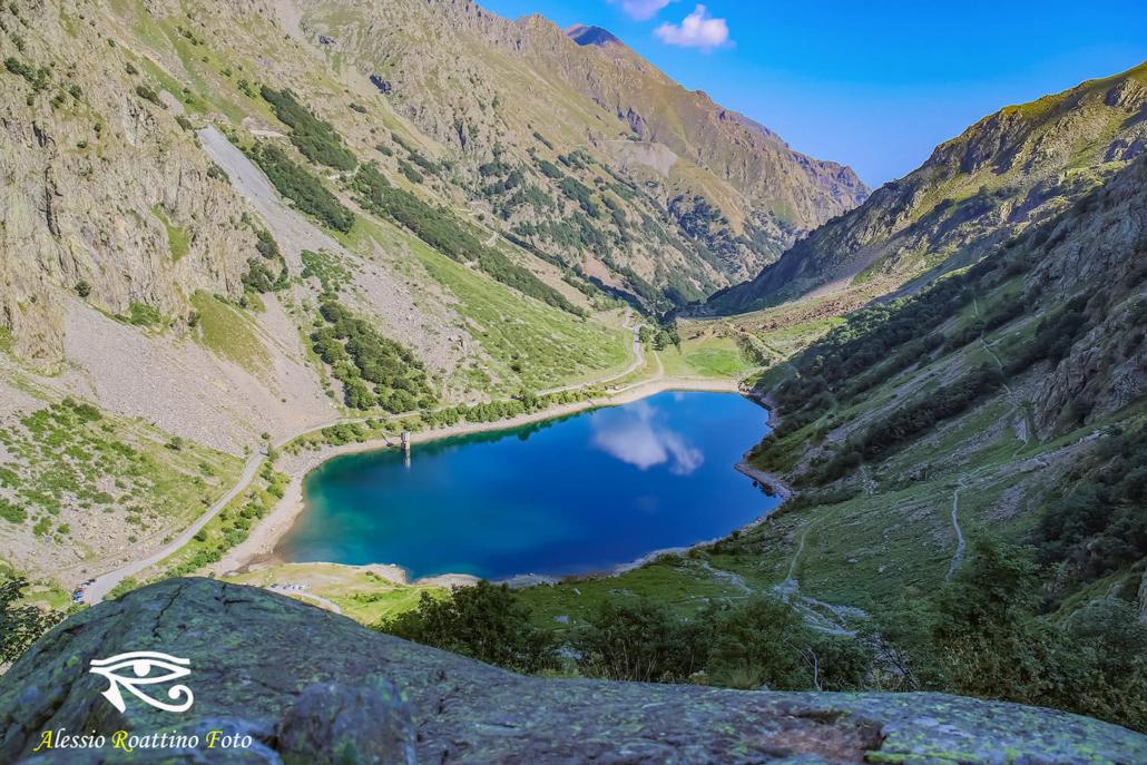 Entracque, lago della rovina visto dall'alto