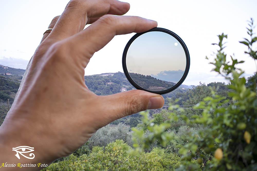 Effetto del filtro polarizzatore